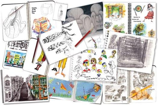 Sketchbooks-SusanCharlotteGraphics