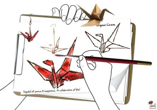 OrigamiCrane-CelebrationOfLife-SusanCharlotteGraphics